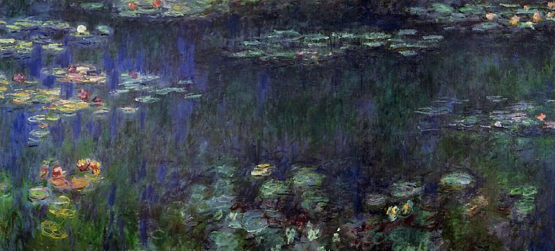 Water Lilies, Green Reflection (left half). Claude Oscar Monet