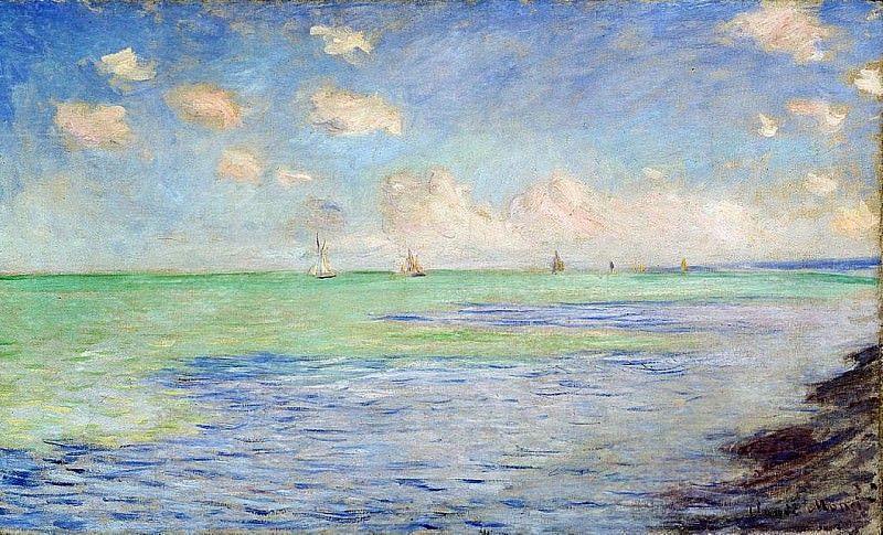 The Sea at Pourville. Claude Oscar Monet