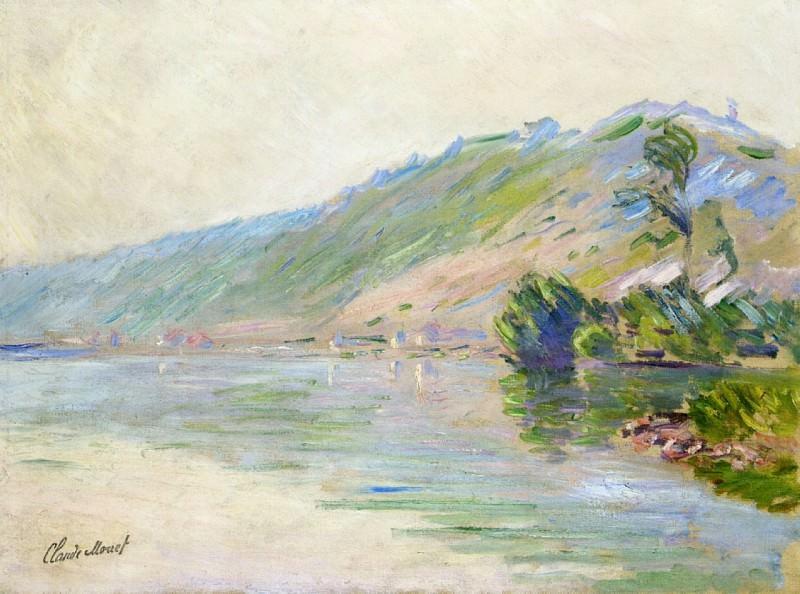 The Seine at Port-Villes, Clear Weather. Claude Oscar Monet
