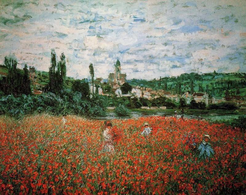 Poppy Field near Vetheuil. Claude Oscar Monet