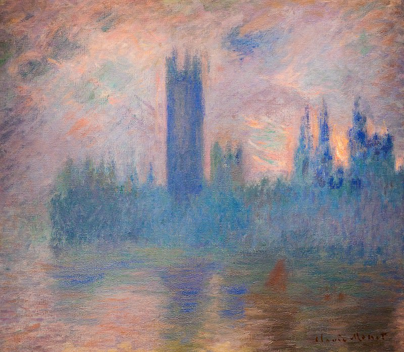Houses of Parliament, Westminster. Claude Oscar Monet