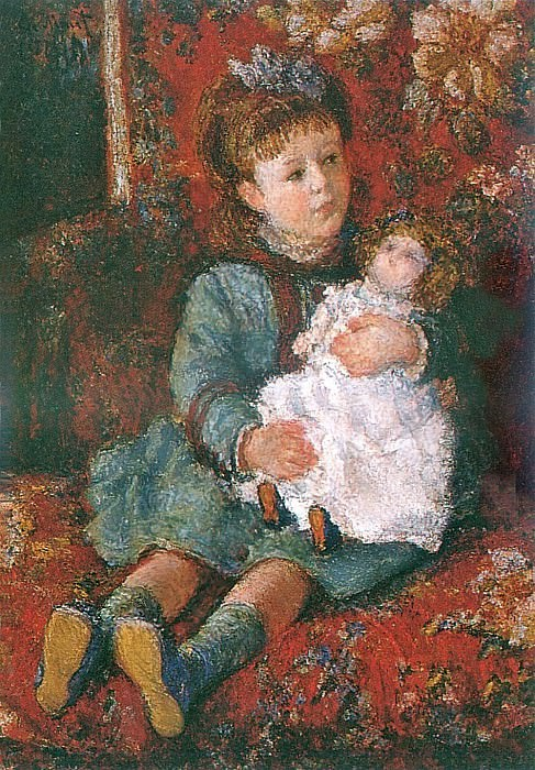 Portrait of Germaine Hoschede with a Doll. Claude Oscar Monet