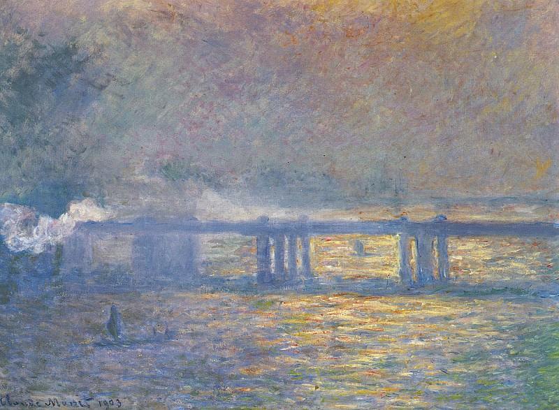 Charing Cross Bridge. Claude Oscar Monet