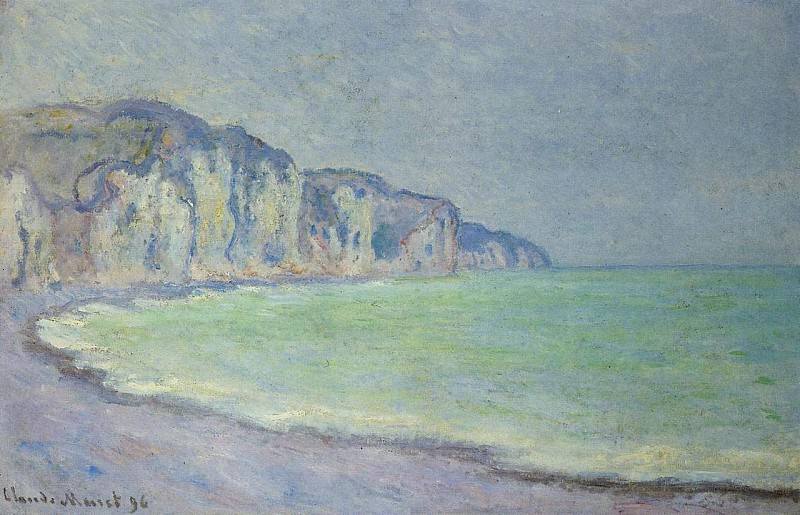 Cliff at Pourville 2. Клод Оскар Моне
