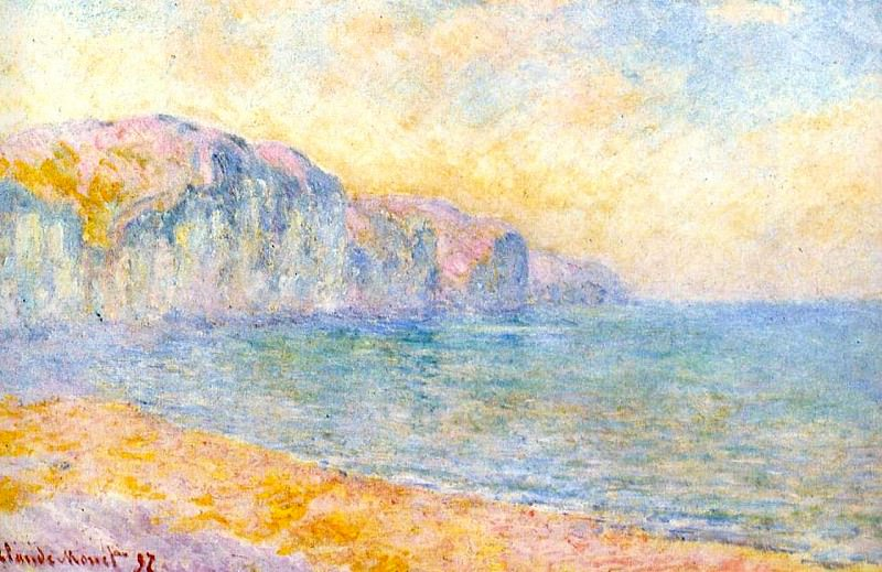 Cliffs at Pourville, Morning. Claude Oscar Monet