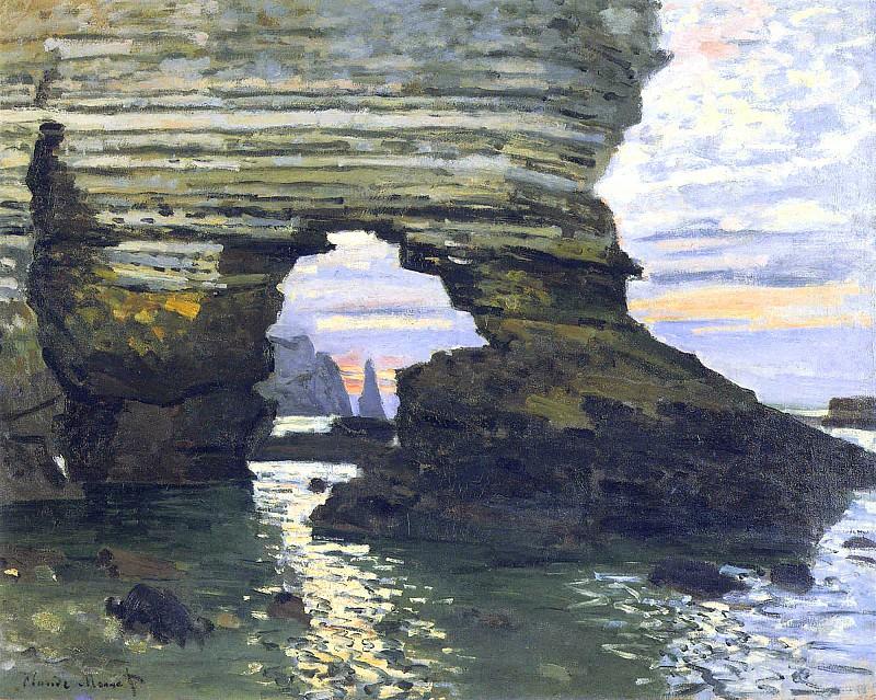 La Porte d`Amount Etretat. Claude Oscar Monet
