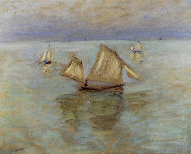 Fishing Boats at Pourville. Claude Oscar Monet