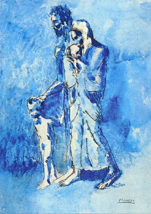1903 Laveugle et sa famille. Pablo Picasso (1881-1973) Period of creation: 1889-1907