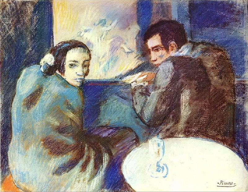 1902 Dans un cabaret. Pablo Picasso (1881-1973) Period of creation: 1889-1907