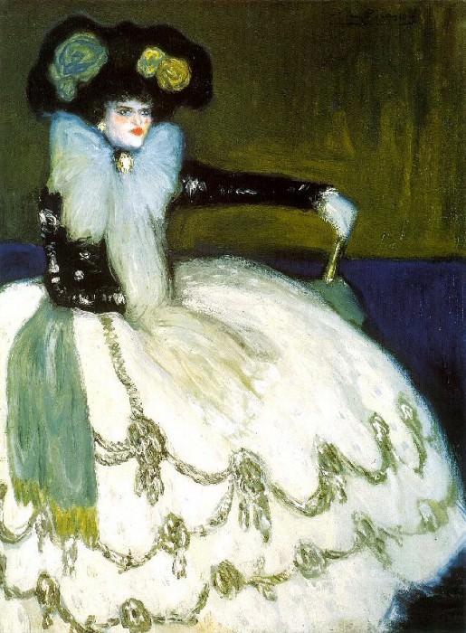 1901 Femme en bleu. Pablo Picasso (1881-1973) Period of creation: 1889-1907