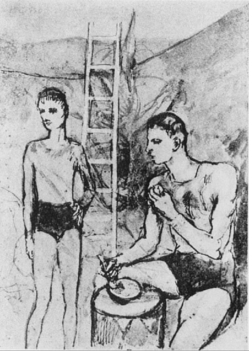 1905 Le repas des acrobates. Pablo Picasso (1881-1973) Period of creation: 1889-1907