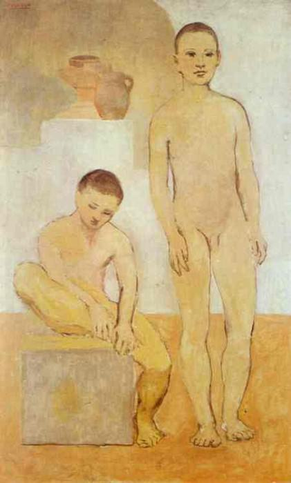 1905 Deux jeunes. Pablo Picasso (1881-1973) Period of creation: 1889-1907