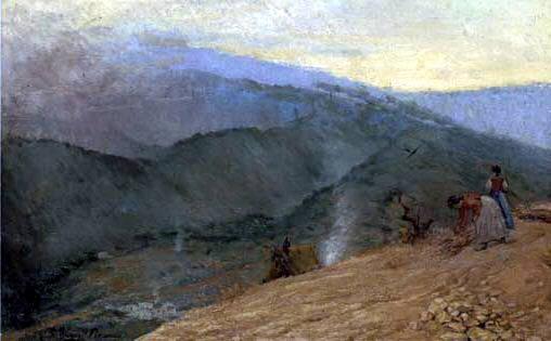 1897 Montagnes de Mаlaga. Pablo Picasso (1881-1973) Period of creation: 1889-1907