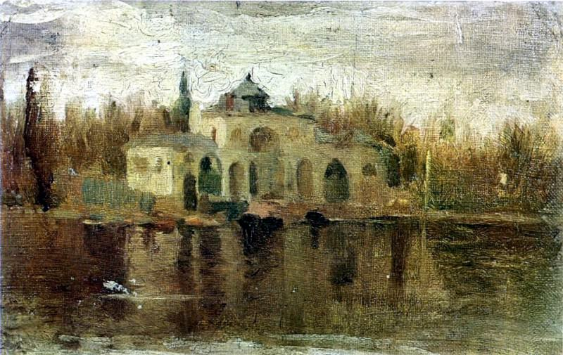 1897 Pavillon dans le Parc del Retiro. Пабло Пикассо (1881-1973) Период: 1889-1907