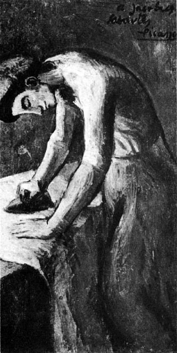 1901 La repasseusse. Pablo Picasso (1881-1973) Period of creation: 1889-1907