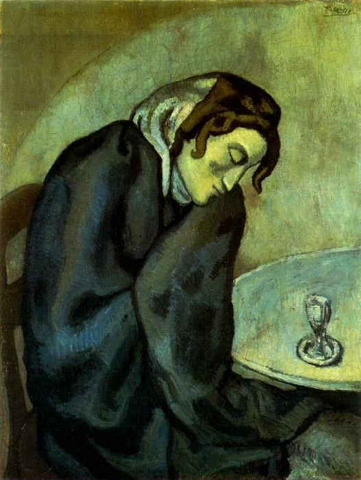 1902 Femme fatiguВe, ivre. Pablo Picasso (1881-1973) Period of creation: 1889-1907