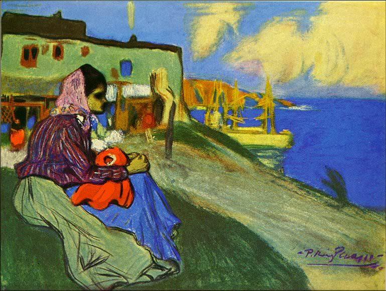 1898 Fille bohВmienne devant La Musciera. Пабло Пикассо (1881-1973) Период: 1889-1907