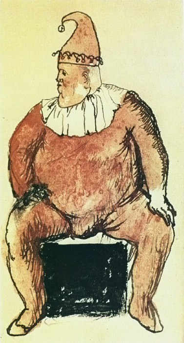 1905 Gros bouffon assis. Пабло Пикассо (1881-1973) Период: 1889-1907