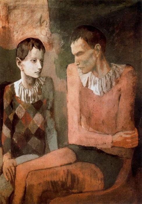 1905 Acrobate et jeune arlequin4. Пабло Пикассо (1881-1973) Период: 1889-1907