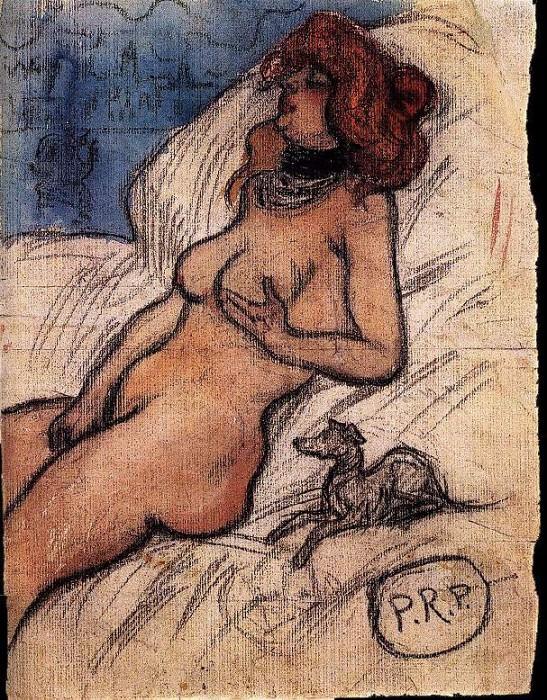 1900 Femme qui rИve Е Venise. JPG. Pablo Picasso (1881-1973) Period of creation: 1889-1907