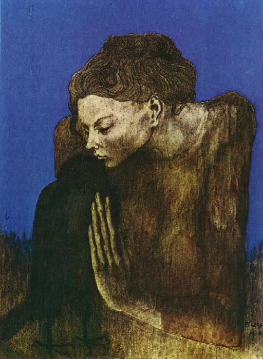 1904 Femme Е la corneille. Pablo Picasso (1881-1973) Period of creation: 1889-1907