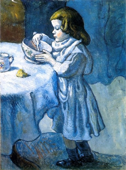 1901 Le gourmet (Le gourmand). Pablo Picasso (1881-1973) Period of creation: 1889-1907