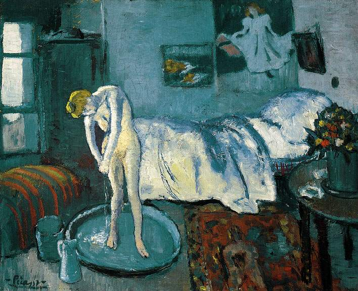 1901 La chambre bleue (Le tub)2. Pablo Picasso (1881-1973) Period of creation: 1889-1907