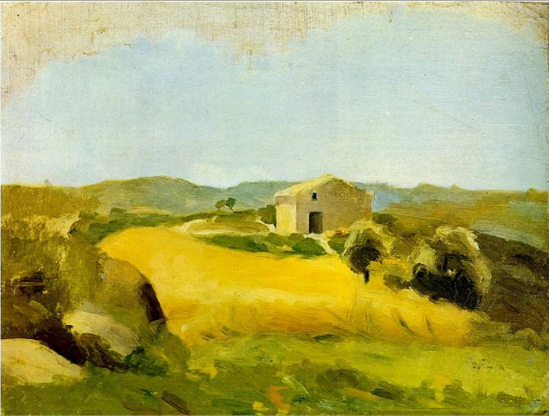 1898 Maison dans un champ de blВ. Pablo Picasso (1881-1973) Period of creation: 1889-1907