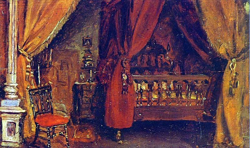 1894 La chambre de Dr Ramвn PВrez Costales. Pablo Picasso (1881-1973) Period of creation: 1889-1907