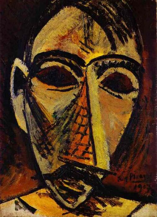 1907 TИte dhomme. Пабло Пикассо (1881-1973) Период: 1889-1907