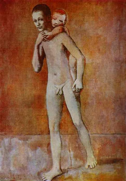 1905 Deux frКres. Pablo Picasso (1881-1973) Period of creation: 1889-1907