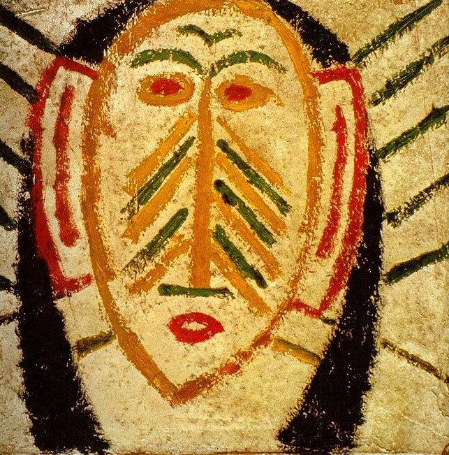 1907 Masque nКgre. Пабло Пикассо (1881-1973) Период: 1889-1907