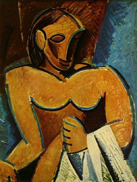 1907 Nu Е la serviette. Pablo Picasso (1881-1973) Period of creation: 1889-1907