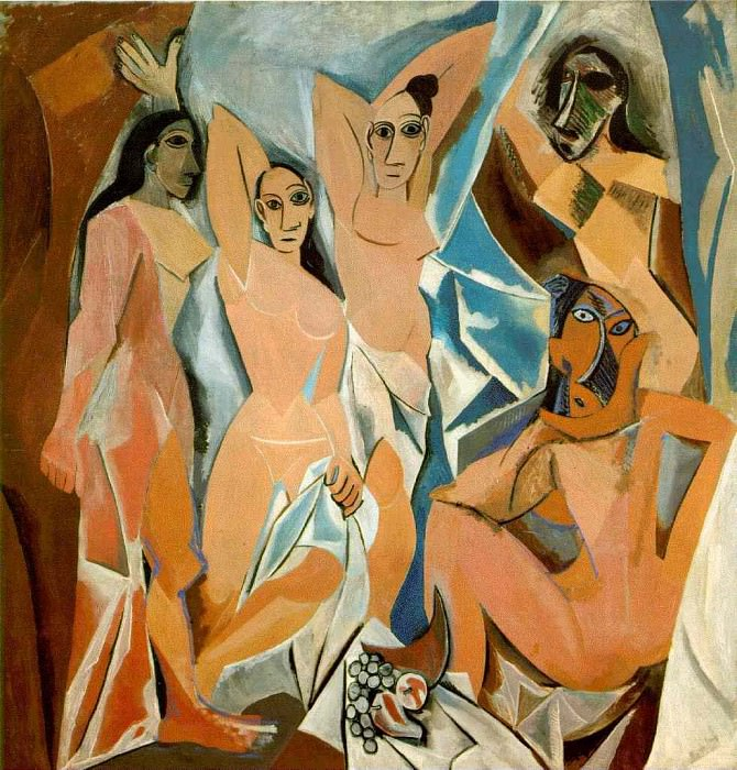 1907 Les demoiselles dAvignon 2. Pablo Picasso (1881-1973) Period of creation: 1889-1907