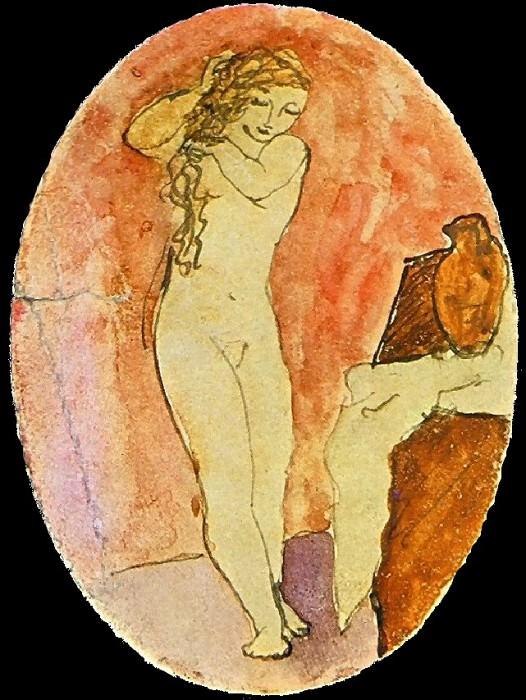 1906 La toilette2. Pablo Picasso (1881-1973) Period of creation: 1889-1907