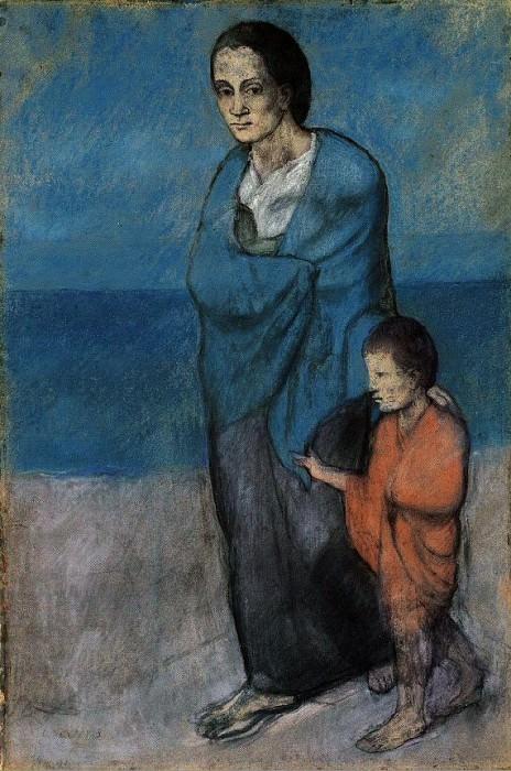 1903 MВre et enfant au bord de la mer. Pablo Picasso (1881-1973) Period of creation: 1889-1907