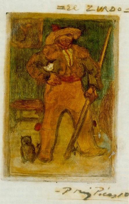 1899 El Zurdo. Пабло Пикассо (1881-1973) Период: 1889-1907