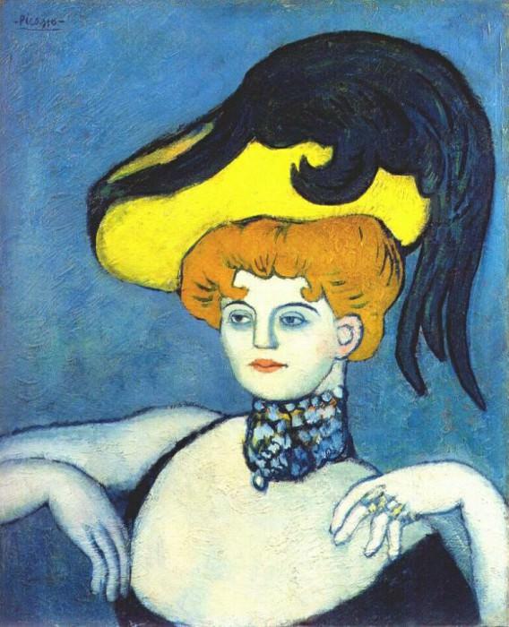 1901 Courtisane Au Collier De Gemmes. Pablo Picasso (1881-1973) Period of creation: 1889-1907