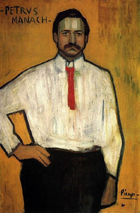 1901 Portrait du PКre Manach. Pablo Picasso (1881-1973) Period of creation: 1889-1907