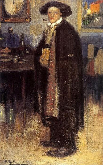 1900 Homme en manteau espagnol. Пабло Пикассо (1881-1973) Период: 1889-1907