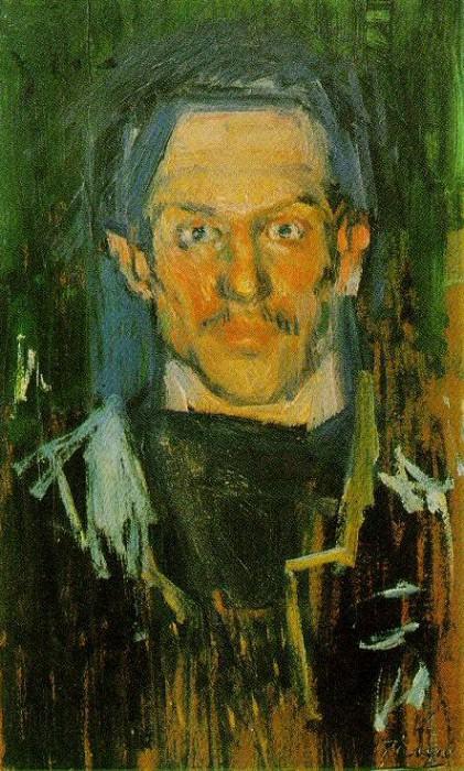 1901 Autoportrait - Yo. Пабло Пикассо (1881-1973) Период: 1889-1907