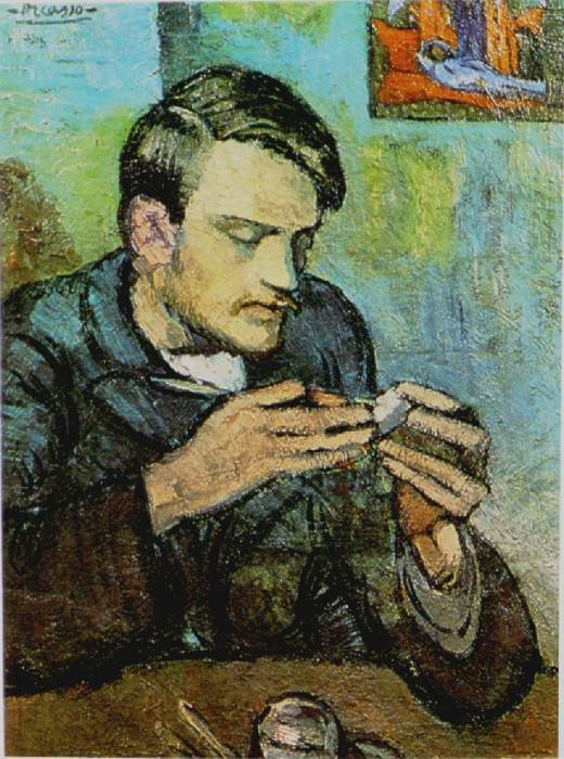 1901 Portrait de Mateu Fernаndez de Soto. Pablo Picasso (1881-1973) Period of creation: 1889-1907