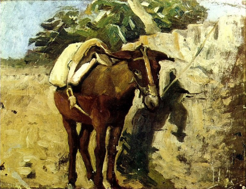 1898 mulet. Pablo Picasso (1881-1973) Period of creation: 1889-1907