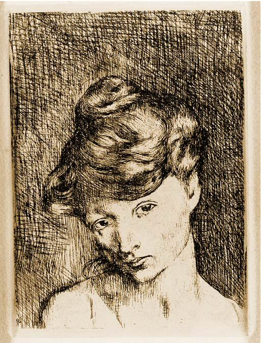1905 TИte de femme. Pablo Picasso (1881-1973) Period of creation: 1889-1907