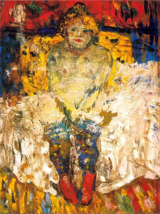 1901 Femme aux bas-bleus. Пабло Пикассо (1881-1973) Период: 1889-1907