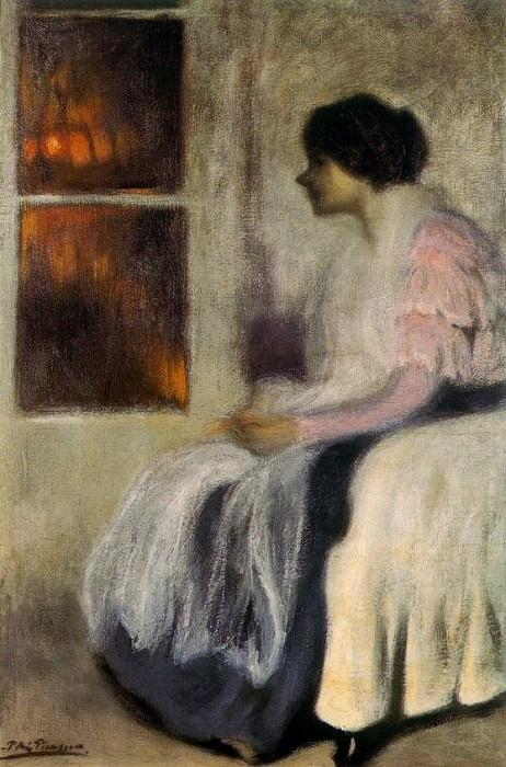 1899 Lola devant une fenИtre. Pablo Picasso (1881-1973) Period of creation: 1889-1907