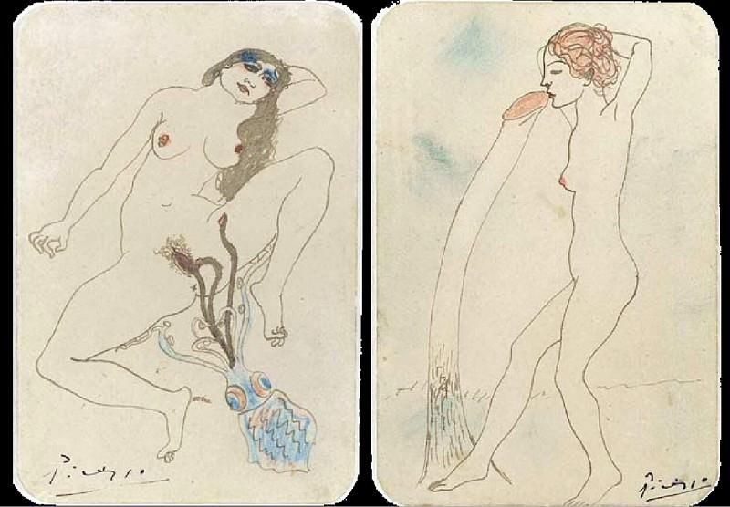 1903 Deux dessins Вrotiques. Пабло Пикассо (1881-1973) Период: 1889-1907