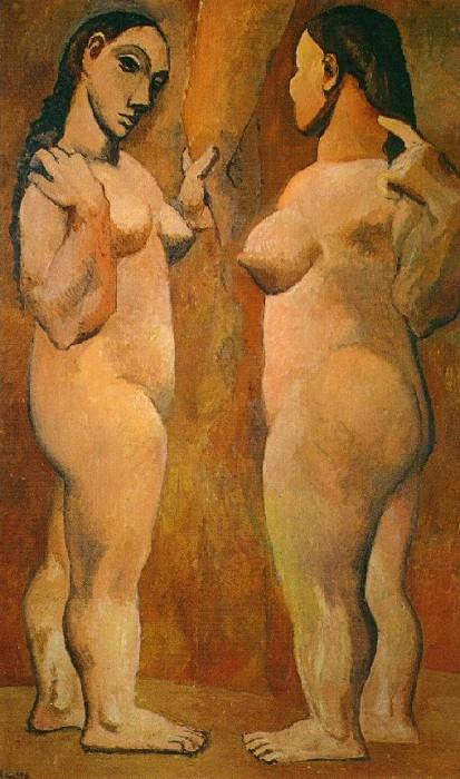 1906-7 Deux femmes nues. Пабло Пикассо (1881-1973) Период: 1889-1907