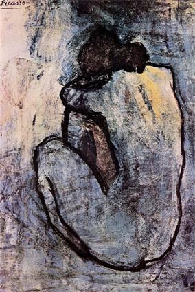 1901 Nue bleue. Пабло Пикассо (1881-1973) Период: 1889-1907