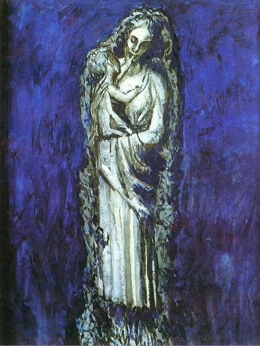 1904 Vierge Е la guirlande. Пабло Пикассо (1881-1973) Период: 1889-1907
